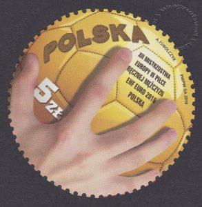 XII Mistrzostwa Europy w Piłce Ręcznej Mężczyzn EHF EURO 2016 Polska - znaczek nr 4664