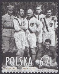 Legia Warszawa 1916/2016 - znaczek nr 4679