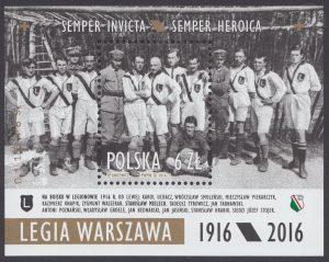 Legia Warszawa 1916/2016 - Blok 195