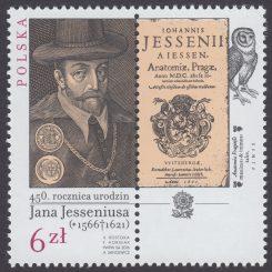 450. rocznica urodzin Jana Jesseniusa (1566-1621) - znaczek nr 4695