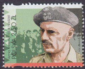 Armia Andersa – Szlak Nadziei - znaczek nr 4705