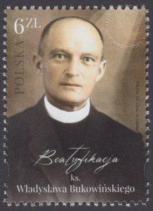 Beatyfikacja ks. Władysława Bukowińskiego - znaczek nr 4717