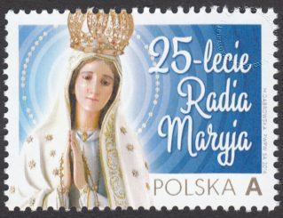 25 lecie Radia Maryja - znaczek nr 4736