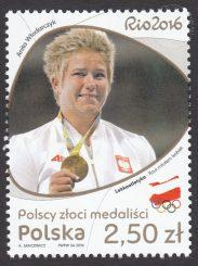 Polscy złoci medaliści - znaczek nr 4737