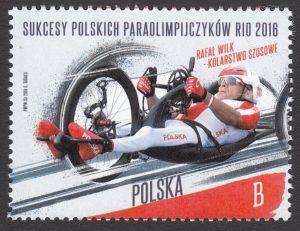 Sukcesy polskich paraolimpijczyków Rio 2016 - znaczek nr 4739