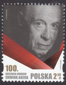100 rocznica urodzin Erwina Axera - znaczek nr 4742