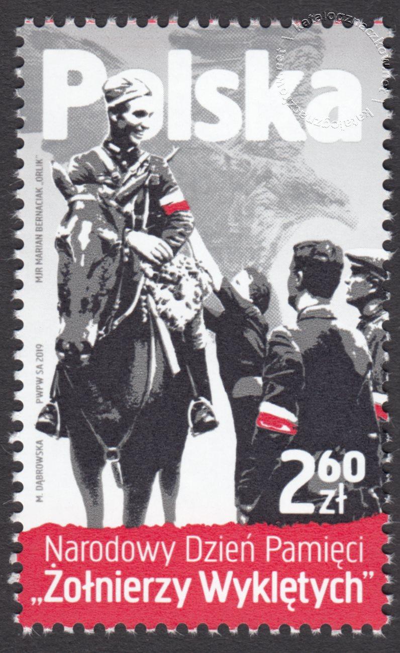 Narodowy Dzień Pamięci Żołnierzy Wyklętych znaczek nr 4944