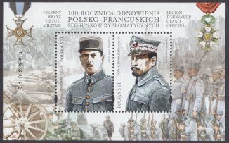 100 rocznica odnowienia polsko-francuskich stosunków dyplomatycznych - Blok 213