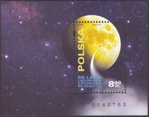 50-lecie lądowania człowieka na Księżycu - Blok 221