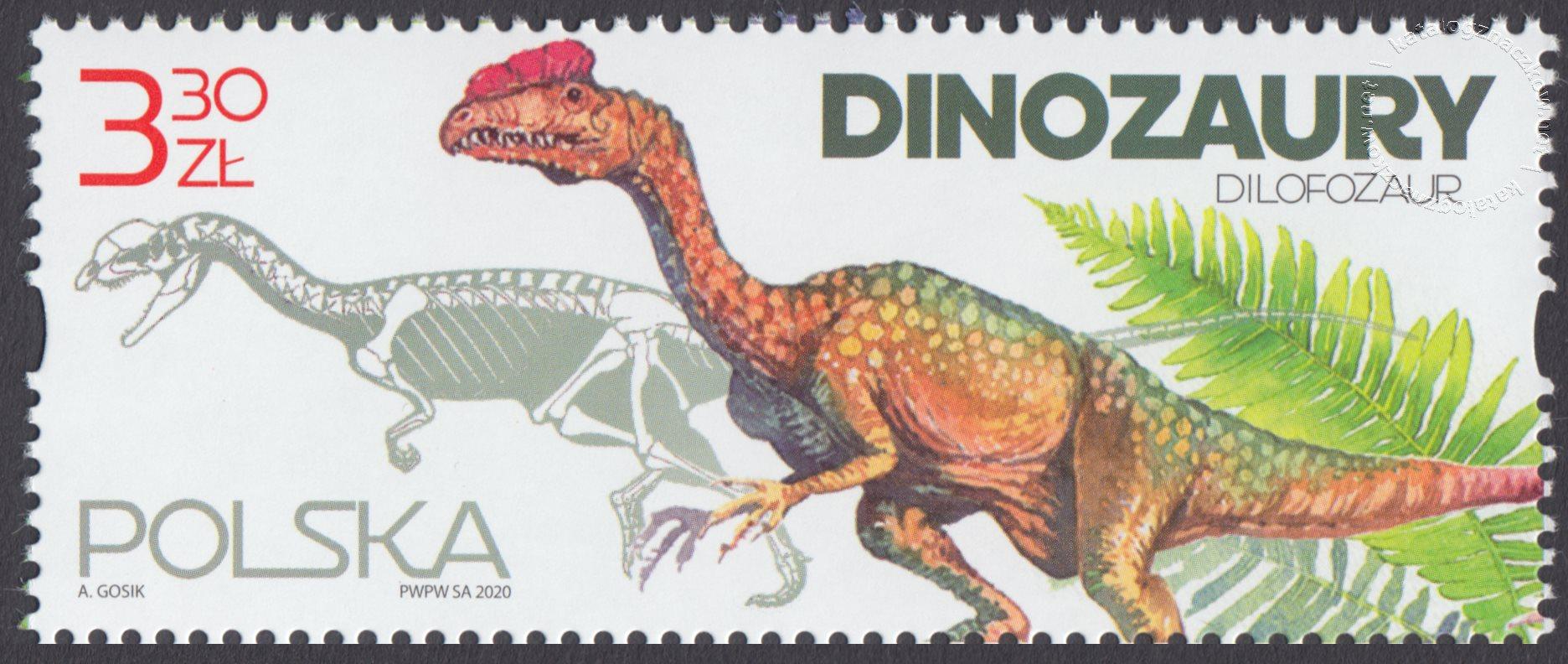 Dinozaury znaczek nr 5109