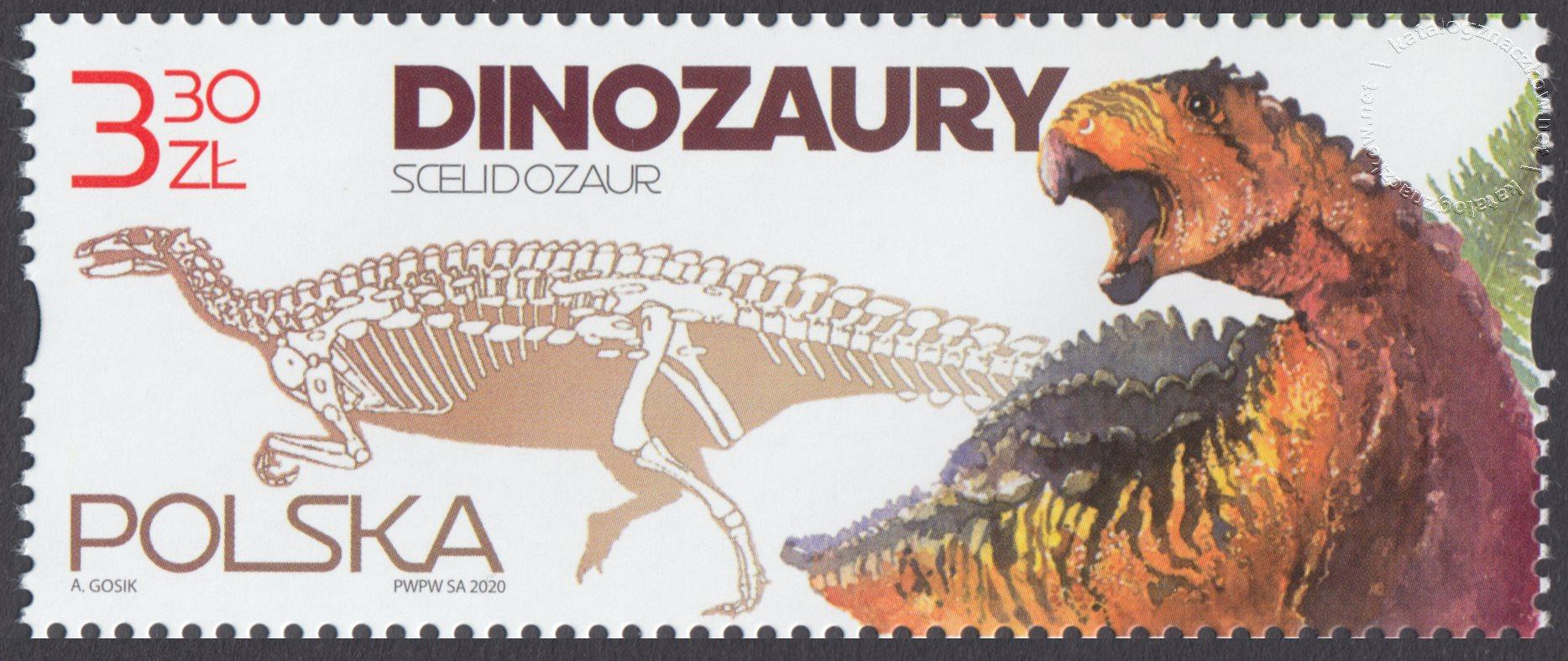 Dinozaury znaczek nr 5110