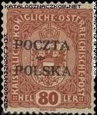 Wydanie prowizoryczne tzw. krakowskie znaczek nr 43