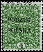 Wydanie prowizoryczne tzw. krakowskie znaczek nr 48