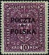 Wydanie prowizoryczne tzw. krakowskie znaczek nr 49