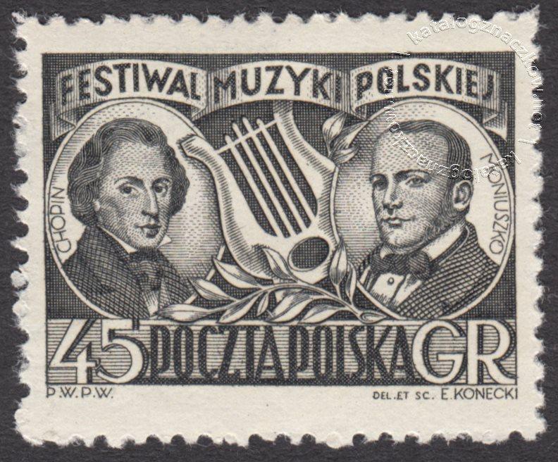Festiwal Muzyki Polskiej znaczek nr 571