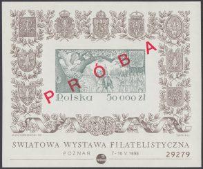 Światowa Wystawa Filatelistyczna w Poznaniu - Blok 108 PRÓBA