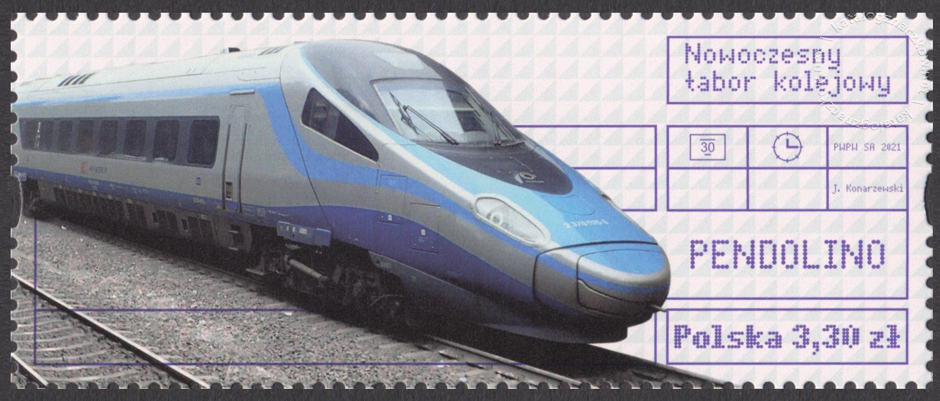 Nowoczesny tabor kolejowy znaczek nr 5135B