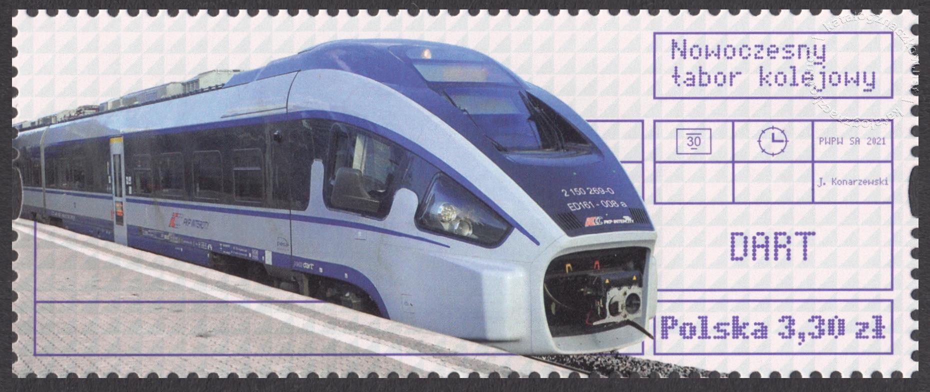 Nowoczesny tabor kolejowy znaczek nr 5136B