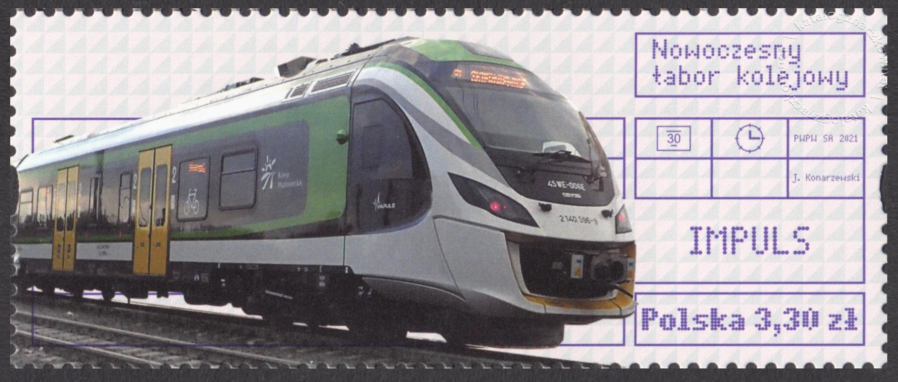 Nowoczesny tabor kolejowy znaczek nr 5137B