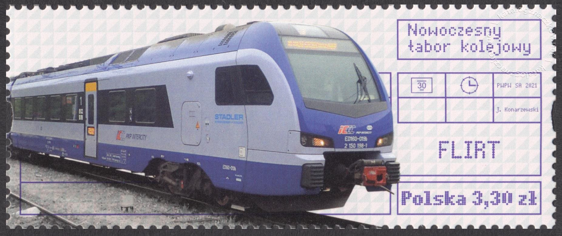 Nowoczesny tabor kolejowy znaczek nr 5138B