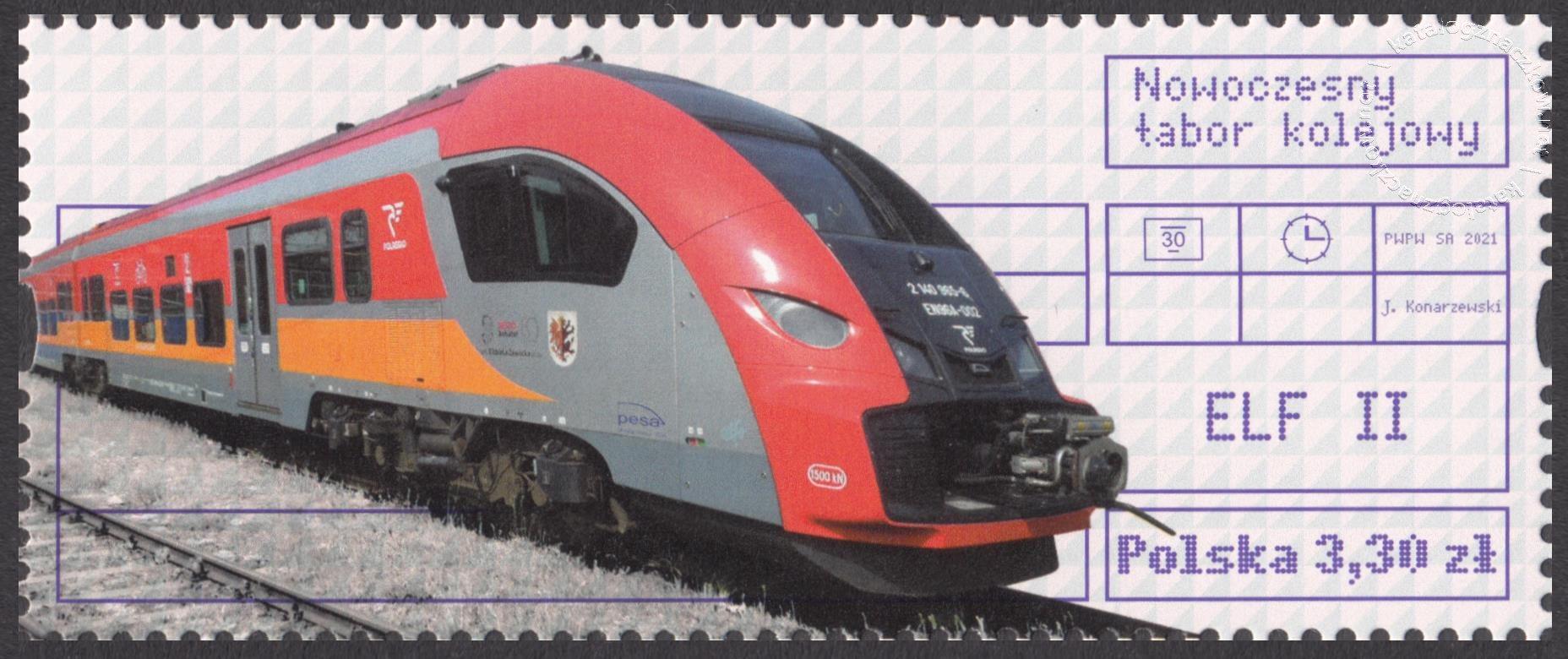 Nowoczesny tabor kolejowy znaczek nr 5139B